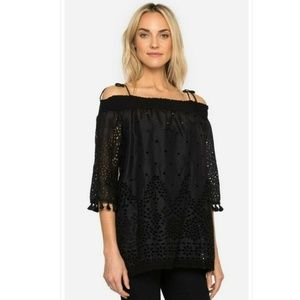 Johnny Was Hailey Off The Shoulder Embroidered Top